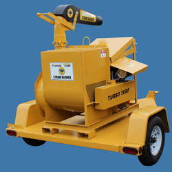 Turbo Turf Straw Blower with trailer