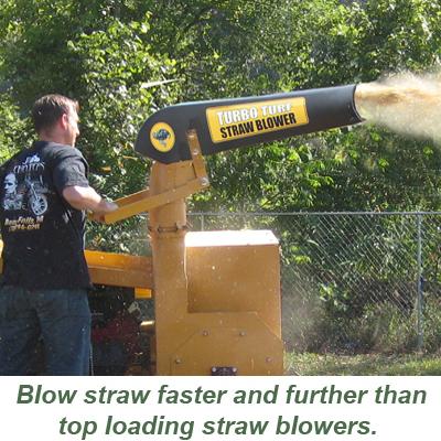Turbo Turf Straw Blower blows furtherer
