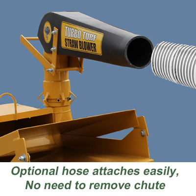 Easily attach the hose to the straw blower
